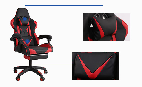 Even if your game is intense, you can still maintain the ideal posture with an ergonomic gaming throne like this. It has a head pillow that supports the head and protects the cervical spine. You can also play from your best angle because of its movable waist cushion.
